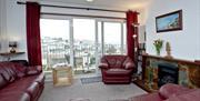 Lounge with view, Harbour View, 8 Jacolind Walk, Brixham, Devon