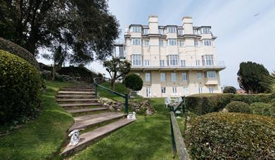 View of Headland & Gardens at Headland Hotel, Torquay, Devon