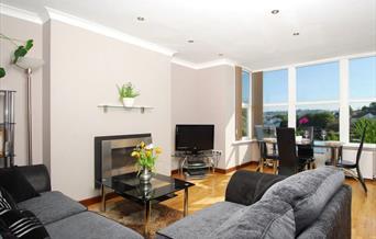 Lounge, Apartment 3, High Gables, 44 Youngs Park Road, Paignton, Devon