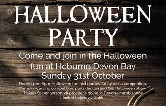 Halloween Party at Hoburne Devon Bay, Paignton, Devon