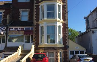 Front of Adelphi Holiday Apartments in Paignton, Devon