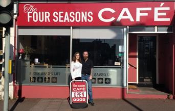 Four Seasons Cafe Frontage Paignton in Devon
