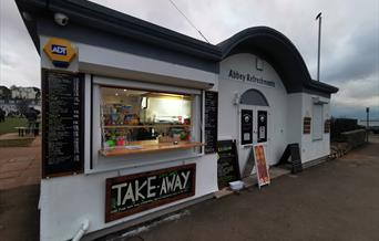 takeaway, seafront, beachfront, panini, ice cream, coffee, Abbey Lawns, Abbey Meadows, Abbey Refreshments, smoothies, milkshakes, cold drinks