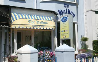 Front of the Haldon Guest House, Paignton, Devon