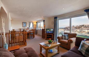 Open plan living area, Le Voir, Overgang, Brixham, Devon