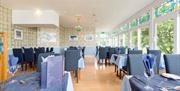 Dining area at the Marine Hotel, Paignton, Devon