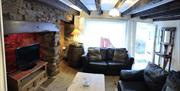 Lounge, Mariners Cottage, 13 Overgang, Brixham, Devon