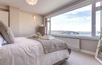 Double  Bedroom with view, Mariners Reach, 25 Heath Park, Brixham