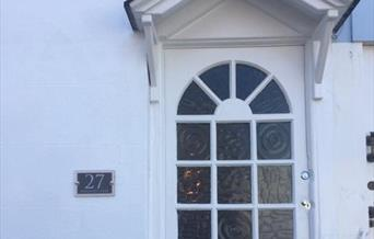 Entrance doorway, Meadfoot Cottage, Meadfoot Lane, Torquay, Devon