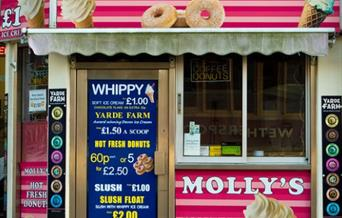 Molly's Ice Cream and Donuts, Torquay, Devon