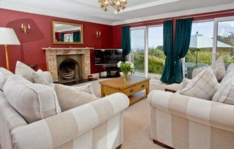 Lounge with view, Norville, Victoria Road, Brixham, Devon