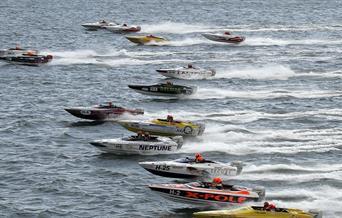 Offshore Model Powerboat Race (Offshore MBE), Brixham, Devon