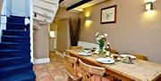 Dining area, Pilgrim's Cottage, 2 Customs Court, Overgang, Brixham, Devon