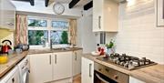 Kitchen, Pilgrim's Cottage, 2 Customs Court, Overgang, Brixham, Devon