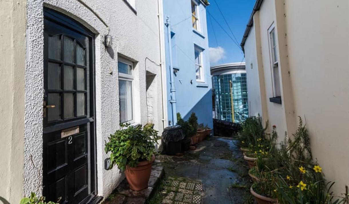 Exterior, Pilgrim's Cottage, 2 Customs Court, Overgang, Brixham, Devon