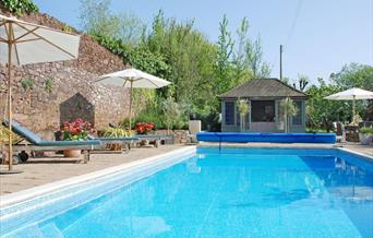 Outdoor Pool, The Pound House, Blagdon, Paignton, Devon