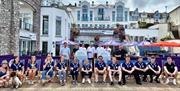 Team photo at the Prince William, Brixham, Devon