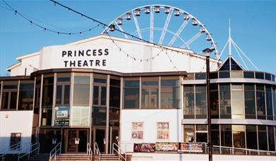 Entrance of the Princess Theatre, Torquay Devon