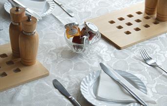 Breakfast table, Ratcliffe Guest House, 4 Garfield Road, Paignton, Devon