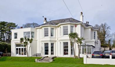 Exterior with car park for 6 cars, Roydon Villa, Asheldon Road, Torquay, Devon