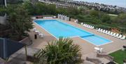 Outside pool at Hoburne Devon Bay, Paignton, Devon