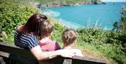 Checking the view at South Bay Holiday Park in Brixham