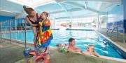 Inside pool at South Bay Holiday Park Brixham Devon
