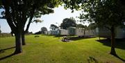 Caravans at South Bay Holiday Park in Brixham