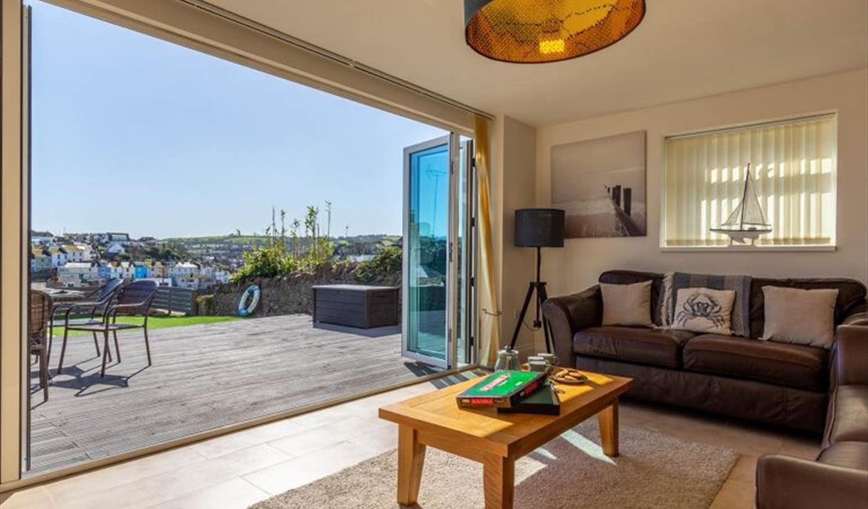 Lounge with view, Salmon Leap, South Furzeham Road, Brixham