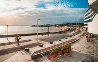 View from Sandybanks Apartment, Abbey Crescent, Torquay, Devon