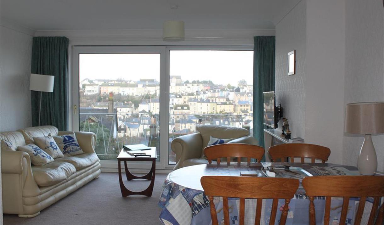 Lounge/Diner with view, Sea Crest, 2 Jacolind Walk, Brixham, Devon