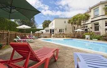 Outdoor pool at Seabury Hotel, Babbacombe, Torquay, Devon