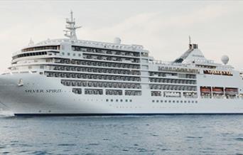 Visit of Silver Spirit Cruise Ship, Tor Bay, Devon