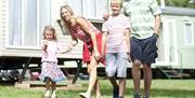 Enjoying family time at South Bay Holiday Park, Brixham, Devon