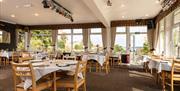 Summerhill Hotel dining room with sea view in Paignton Devon