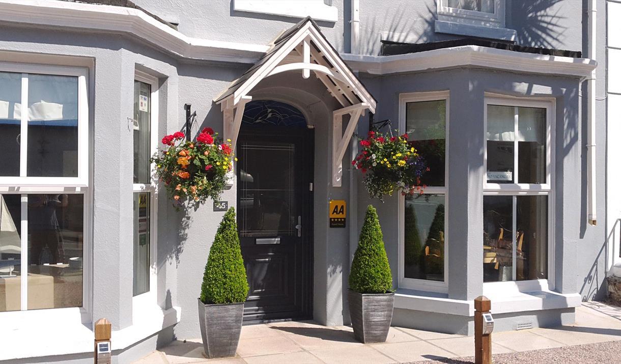 Entrance to Melville Guest House, Brixham, Devon