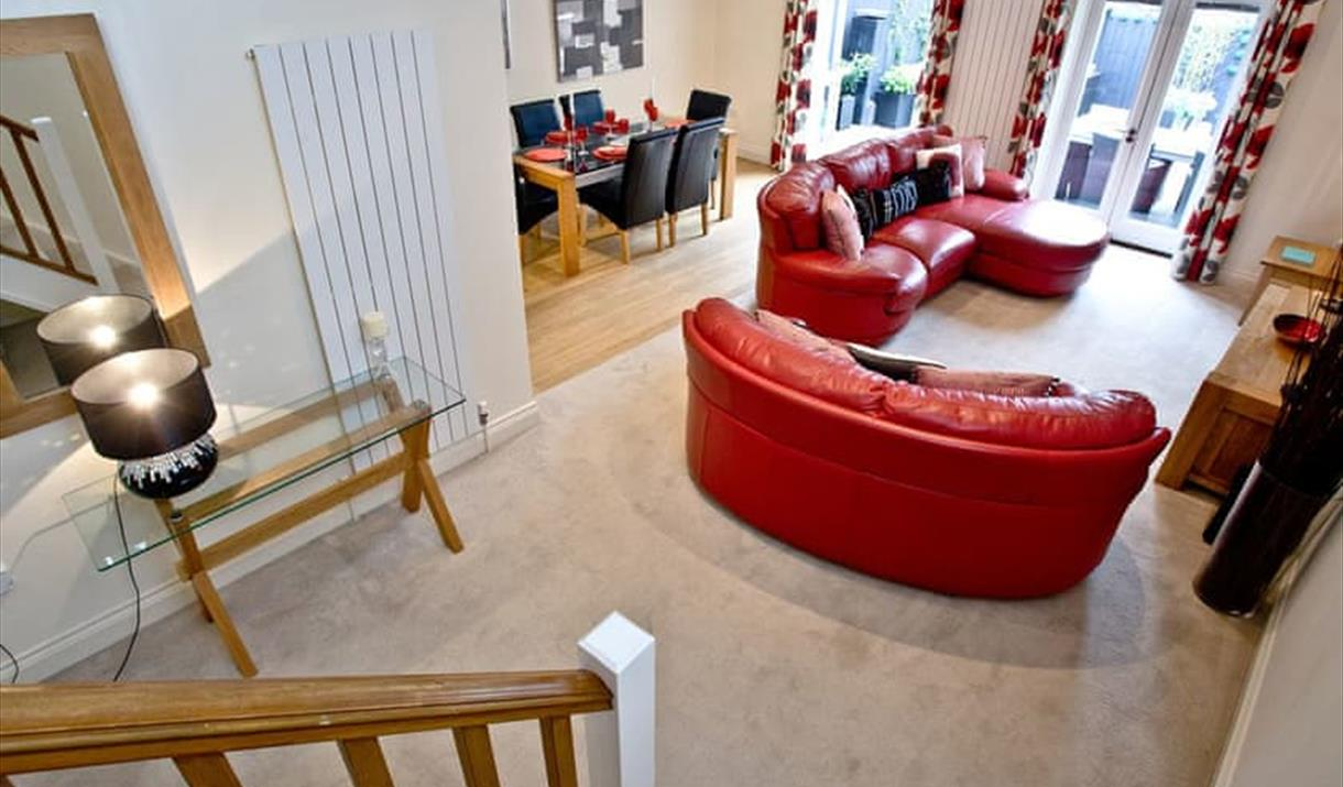 Open plan lounge/diner area at The Squirrels, Torquay, Devon