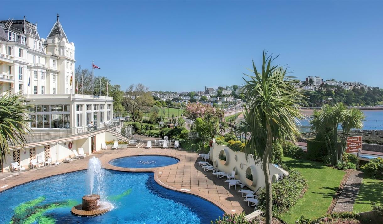 The outside pool at The Grand Hotel, Torquay, Devon