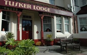 Entrance, Tusker Lodge, Torquay, Devon