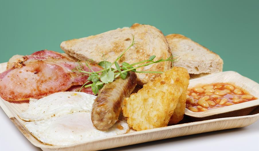 Venus breakfast at Venus Cafe, Broadsands, Devon