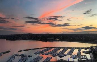 View from Vane Tower Penthouse, Torquay, Devon