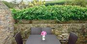 Outside seating, Wassail Cottage, Yalberton, Paignton, Devon