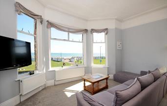 Lounge with sea view, Wavecrest, 29a Marine Parade, Preston, Paignton, Devon