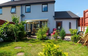 Rear garden, Whiterock Close, Paignton, Devon