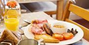 Breakfast at Blue Waters Lodge, Paignton, Devon