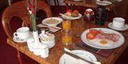 Breakfast at Garway Lodge Guest House, Torquay, Devon