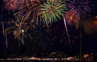 Torquay Fireworks, Corbyn Head, Torquay, Devon