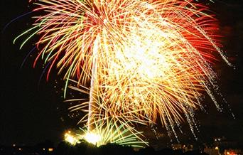 Brixfest Fireworks, Brixham, Devon
