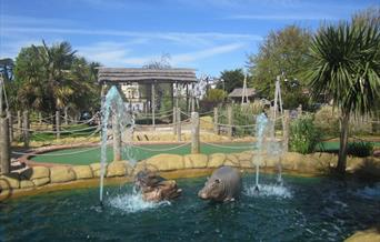 The Rhinos at Jungle Journey, Torquay, Devon