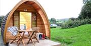 camping pods UK at Whiltehill County Park, Paignton, Devon